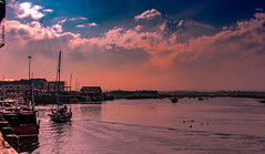 Amble 44 (View From The Chair Photography) Tags: water river boat yacht sunset sky cloud harbour