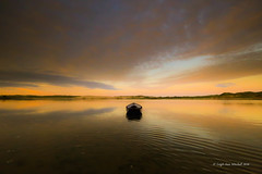 FADING LIGHT (Leigh-Ann Mitchell Photography) Tags: light sunset boat water scotland sky