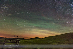 Perseid Meteor Shower Looking North (2016) (paulootavioce) Tags: 70milebutte bigdipper grasslandsnationalpark littledipper perseids polaris saskatchewan airglow corral darkskypreserve meteorshower nightscape prairies radiant shootingstars starlight