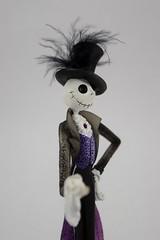 Couture de Force Jack Skellington Figurine by Enesco - Disneyland Purchase - Midrange Left Front View (drj1828) Tags: us disneyland dlr 2016 figurine nightmarebeforechristmas sally couturedeforce purchase enesco