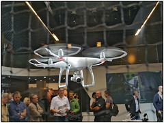 Copters Are Watching You (/Reality Scanner/) Tags: photokina 2016 germany cologne kln copter drone dji flight remotecontrol white photographer camera actioncam