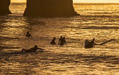 Sunset Surfing (Seahorse-Cologne) Tags: tretat normandie france frankreich summer beach mer atlantik plage lesoir sunset soire surfing surf september