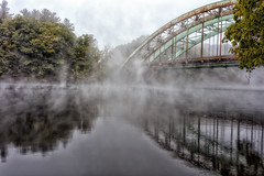 Early Morning Fog on the Connecticut River (AJ Photographic Art) Tags: 5ds autumn canon connecticutriver highresolution massachusettsphotographer newengland newenglandphotographer newhampshire seabeesbridge earlymorning fog morning notshotwithmyphone river