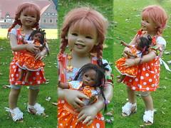Ein einfaches Trio ........... (Kindergartenkinder) Tags: outdoor kind gruppenfoto personen garten park kindergartenkinder annette himstedt dolls sanrike leleti