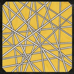 Straws (ElDel777) Tags: lines straws art abstractart blackwhiteandyellow abstract drawing penandink sharpies atc obsessivedrawing outsiderart doodle