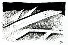 Wolfram Zimmer: Fallen - Umgefallen (ein_quadratmeter) Tags: wolfram zimmer bilder kunst malerei zeichnung images foto photo fotos photos gemlde wolframzimmer konzeptkunst objektkunst meinzimmer freiburg burgbirkenhof kirchzarten ausstellung ausstellungen pinsel tusche ink dessin exhibition exhibitions drawing landschaft landscape improvisation haus building
