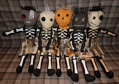 Plan B Boys Group (Morganthorn) Tags: planb boys skeleton ragdoll group kpop cute adorable fun silly halloween scarecrow vampire voodoo ghost