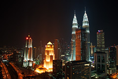 KL roof top (Andrewfn61) Tags: malaysia city night twintowers kualalumpur