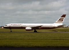 OY-SHA Boeing 757-2J4 (Irish251) Tags: oysha boeing 7572j4 757 757200 sterling dub eidw dublin airport ireland n757af donald trump b752