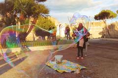 BubbleMan (Jeremy Brooks) Tags: bubble colorefexpro italy lazio people rome street camera:make=fuji camera:make=fujifilm camera:model=xpro1