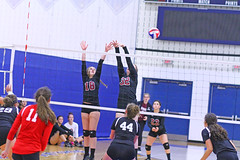 IMG_9881 (SJH Foto) Tags: girls volleyball high school stroudsburg pa pennsylvania team tween teen teenager varsity net battle spike block action shot jump midair