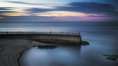 Sea Wall (David Colombo Photography) Tags: childrenspool lajolla sunset sandiego california bluehour blue longexposure nikon d800 davidcolombo davidcolombophotography seascape landscape sea ocean clouds wall seawall cloudy water rocks beach sand