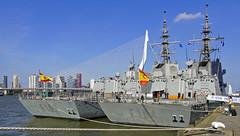 Holland Amerikakade Rotterdam 24-9-2016 (kees torn) Tags: nato warship kopvanzuid hollandamerikakade rotterdam nieuwemaas f104 f102 f264 f331
