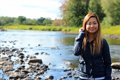 beautiful (Peasantographer) Tags: view armywife wife asian love fall autmn sharp 50mm seriesd river cute hollister