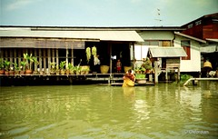 Living at the khlong (oxfordian.world) Tags: bangkok thailand khlong canal kanal explorer oxfordian 1992 stilthouse