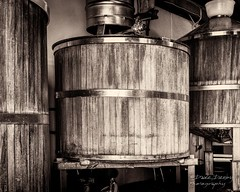Three Wooden Brewing Vats (Dave Denby) Tags: barrel beer brewery brewing building keg legs tap traditional vat wooden