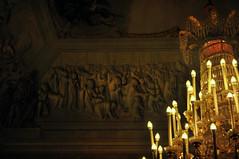 prigionieri sospiranti (Sabrina Romano) Tags: florence italy sculpture candlelight chandelier darkness shadows light highrelief relief art people penumbra
