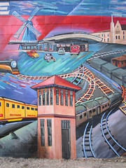 Trains Shaping Atwater Village History Mural (236ism) Tags: history los mural village angeles trains atwater shaping
