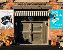 Coco's at the Loft (WayNet.org) Tags: door loft buildings awning entrance richmond business depot cocos organizations