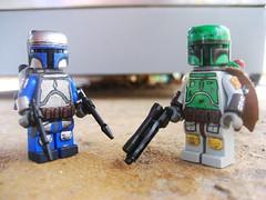 Meet the Fetts (Da-Puma) Tags: paint lego mando tiny custom jetpack tactical brickarms mandolorean