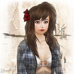 Makiko..  (Lalie Sorbet SL) Tags: portrait colors face square couleurs sl secondlife visage carr makiko laliesorbet