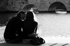 """LA """"COSTRUZIONE"""" DI UN AMORE (Maria Grazia Marrulli) Tags: italia emiliaromagna romagna rimini ponteditiberio amoresenzapizzo amore amour love ritratti persone uomo man homme ritrattididonna donna femme woman biancoenero bn noirblanche tramonto acqua mare lamiasecondamostrapersonale miamartini lacostruzionediunamore exprofer imieiluoghi"""