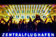 Berlin Festival of Lights 2012: Party Airport (Lens Daemmi) Tags: party berlin festival germany lights airport hands flughafen clap festivaloflights lichter 2012 hnde tempelhof freiheit klatschen fol zentralflughafen tempelhofer