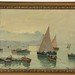 142. Artist Signed Harbor Painting