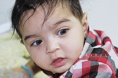 So Cute $:  (Mjnoon.Maha) Tags: light boy portrait baby eye portraits canon dark hair lights kid faces 2012 closer        mygearandme