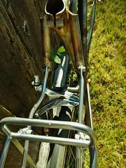 Asymmetrical Struts (Capricorn Bicycles) Tags: bicycle handmade steel fork rack frame custom touring nitto lugs lugged