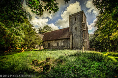 St. Andrew's Church (Pixielated Pixels) Tags: england tree green tower church grave grass stone clouds sussex photos tombstone wallart spire churchyard standrews 13thcentury edburton chrislord pixielatedpixels