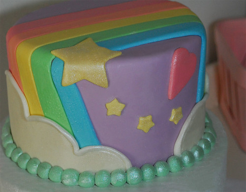 Rainbow 1st Birthday Mini Cake