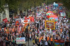 #Oct20 (Sven Loach) Tags: uk england london balloons demo march october britain protest unite gmb colourful nut 20 banners bournemouth napo civildisobedience cuts embankment protesters dissent 2012 placards gmt socialjustice unison tradeunions austerity oct20