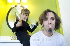 little barber (cara slifka) Tags: boy haircut cute parenthood childhood hair funny dad child control cut father son scissors panic barber horror regret whoops littlebarber boycutsdadshair