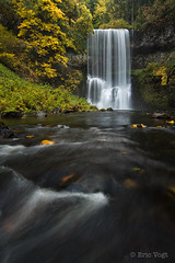 Lower South Falls (Eric.Vogt) Tags: longexposure autumn fall water oregon silver waterfall places waterfalls silverfalls silverfallsstatepark lowersouthfalls