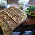 "Etli ekmek (""meaty bread"") <a style=""margin-left:10px; font-size:0.8em;"" href=""http://www.flickr.com/photos/59134591@N00/8112402772/"" target=""_blank"">@flickr</a>"