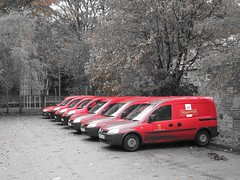 Postie (ambo333) Tags: uk red england post mail postoffice cumbria delivery vans royalmail van brampton postofficevan postofficevans crawhall