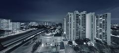 Cold Nights (night86mare) Tags: city panorama night singapore long exposure cityscape stitch tracks mrt hdb k5 eunos 10mm ptgui
