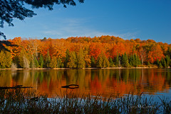 Grand Sable Lake Sept  Fall Reflections (Gary of the North(Footsore Fotography)) Tags: reflections upperpeninsula northernmichigan picturedrocksnationallakeshore grandsablelake absolutemichigan amazingmich grandmaraismichigan puremichigan greatshotss reflectsobsessions