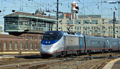 Amtrak Acela Train in Washington DC. -  3 Images