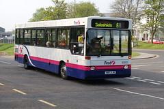 First Dennis Dart 40905.N617XJM - Newtown St Boswells, Scotland (dwb transport photos) Tags: bus pointer first dennis dart 40905 plaxton newtownstboswells n617xjm