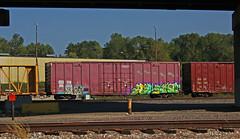 Kost Aspekt (The Braindead) Tags: art minnesota train bench photography graffiti painted tracks minneapolis rail explore beyond kast the aspekt
