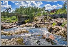 Memories of summer (ViTaRu) Tags: park bridge summer sky hot nature water colors beautiful creek canon finland landscape rocks colorful stream warm outdoor rapids 5d serene lieto varsinaissuomi nautelankoski 2880f2840l