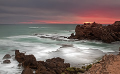 Craggy ! ~Xplawed ~ (bigvern1263) Tags: trees sunset seascape rocks dinosaur australia victoria craggy greatoceanroad crags gor