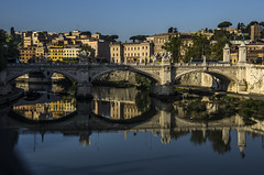 by the Tiber / Explore (wriggler!) Tags: city light vacation urban italy holiday rome reflection water buildings river mirror europe day pentax wriggler thebestshot pentaxk5 flickrtravelaward ruby5