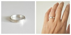 Almost there... (Iveth Morales) Tags: wedding white weather collage silver gold hand band ring angry sterling etsy braid