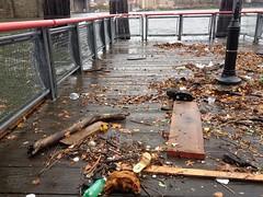 Shoes on the East River (jabbex) Tags: nyc newyork water flooding chinatown sandy hurricane disaster eastriver damage seaport frankenstorm hurricanesandy frankenstormsandy