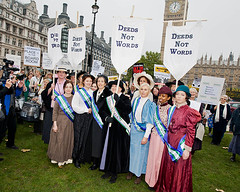 Olympic Suffragettes at the Feminist Lobby of Parliament (UK Feminista) Tags: uk women parliament lobby helen rights mass feminist equality pankhurst suffragette suffragettes feminista