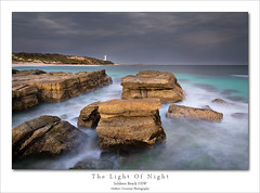 The Light Of Night (Mathew Courtney) Tags: sky lighthouse water clouds rocks nsw centralcoast soldiersbeach