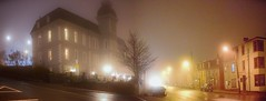 The Basilica, St. Patrick's Hall, and Queens Road in Fog (SignalHillHikerPhotography.com) Tags: canada architecture newfoundland scenery labrador stjohns atlantic eastcoast